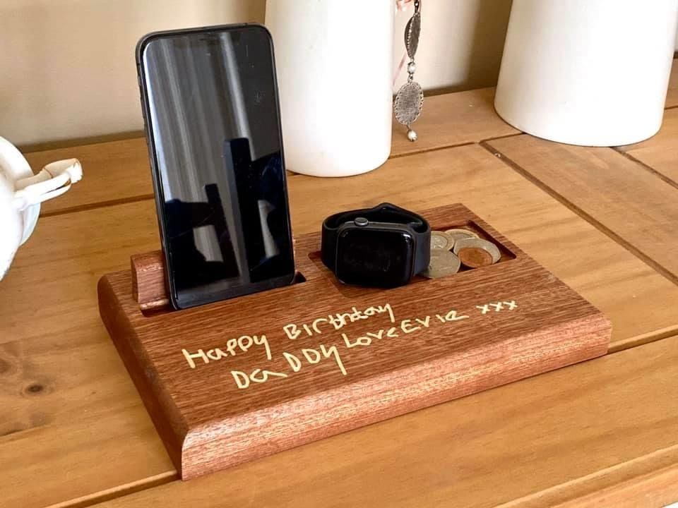 Personalised Desktop Phone and Accessories Holder