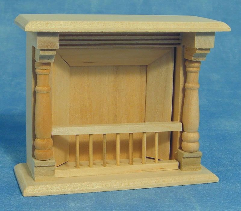 Barewood Dolls House Furniture Bare Essentials 1:12 BEF058 Fireplace