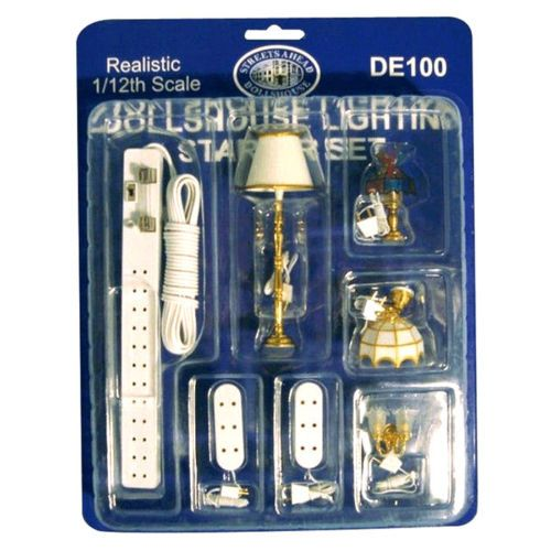 Dolls House Furniture 1:12 DE100 Lighting Starter Set