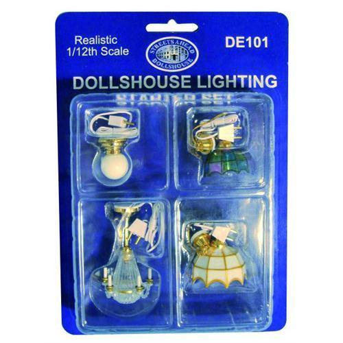 Dolls House Furniture 1:12 DE101 Ceiling Lighting Set