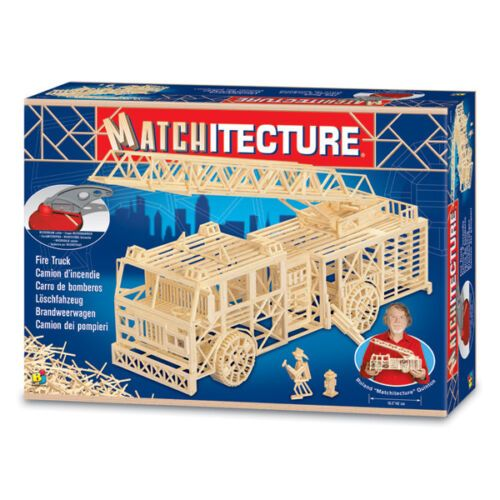 Matchitecture Matchstick Model Kit Fire Engine
