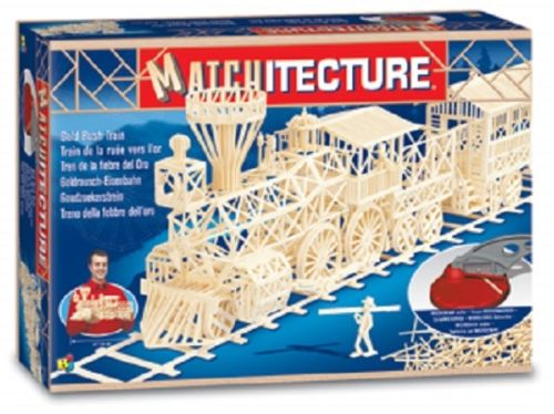 Matchitecture Matchstick Model Kit Gold Rush Train MT6613