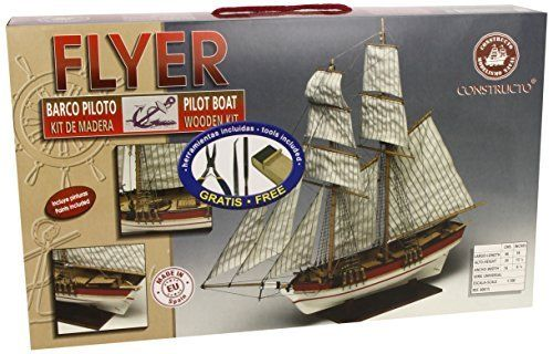 Wooden Model Ship - Boat Kit Constructo Flyer 1:100 80615